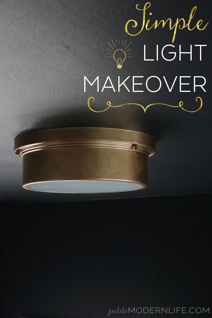 Simple Ceiling Light Makeover Petite Modern Life Lighting Makeover Simple Lighting Ceiling Lights