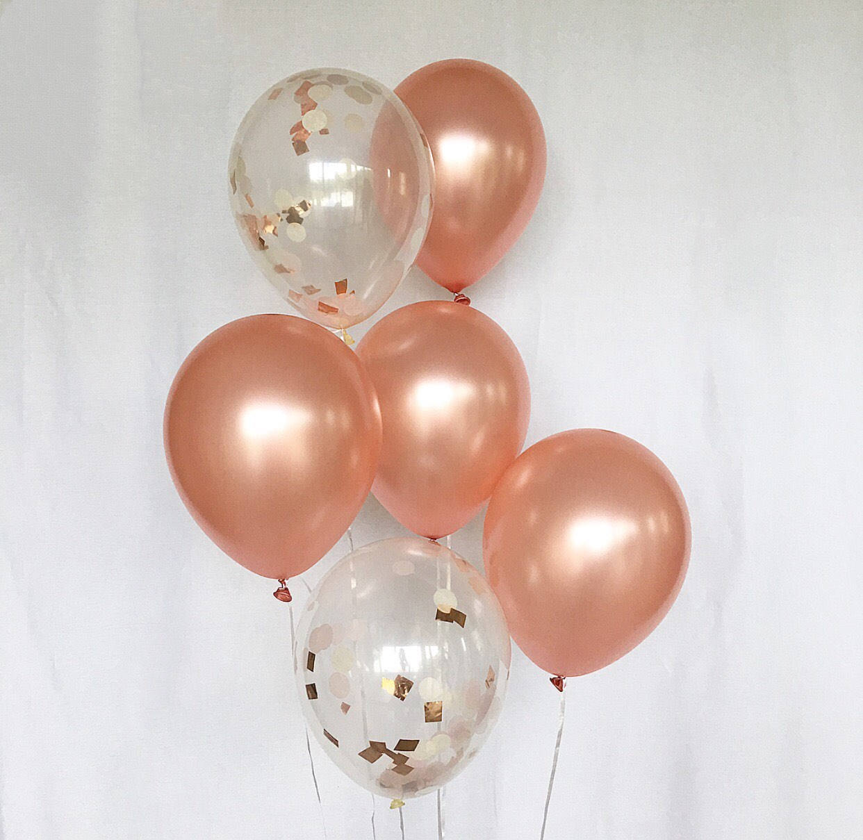 Rose Gold Google Search Rose Gold Bridal Shower Rose Gold Balloons Rose Gold Confetti