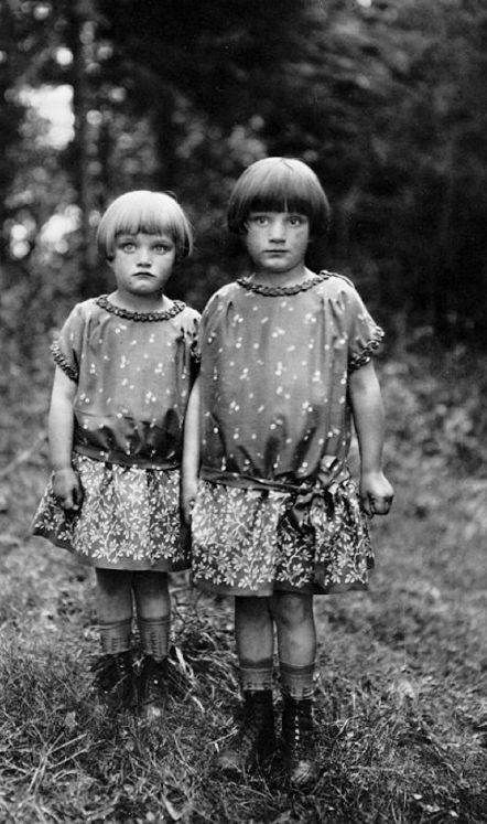 Vintage photograph sisters by august sander 1930