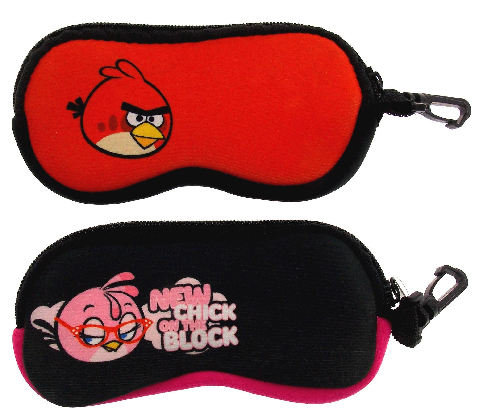 44aea0e992 Angry Birds Optical Case Lot 2 Sunglasses Eyeglass Reading Soft ...