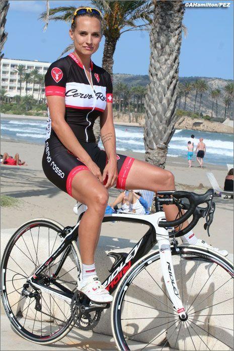 Sexy woman cyclist