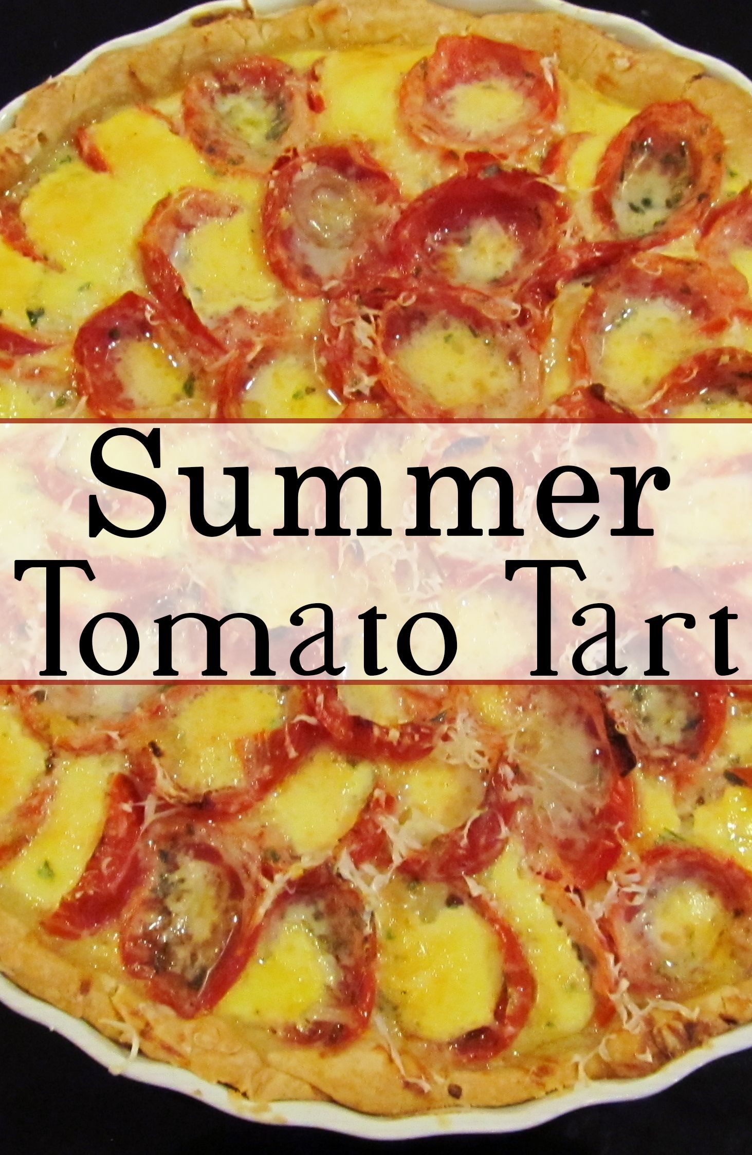 If you have an excess of tomatoes from your garden, try out this tasty tart! It's great for summer!