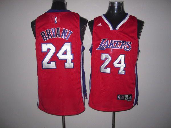 Lakers  24 Kobe Bryant Red Swingman Stitched NBA Jersey  184fac97d