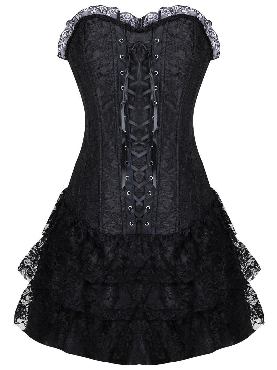 ab28ed372f5 Unique Gothic Lace Women Bustier Corset Dress Wholesale