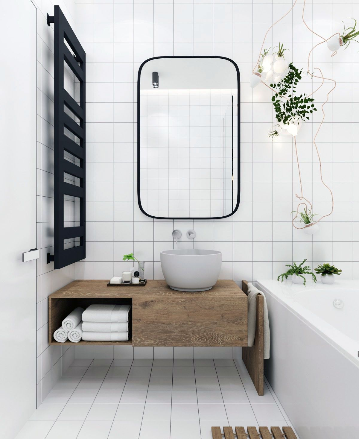 50 Adorable Mixing Rustic Theme And Scandinavian Bathroom Ideas In 2020 Scandinavian Bathroom Simple Bathroom Designs Minimalist Bathroom