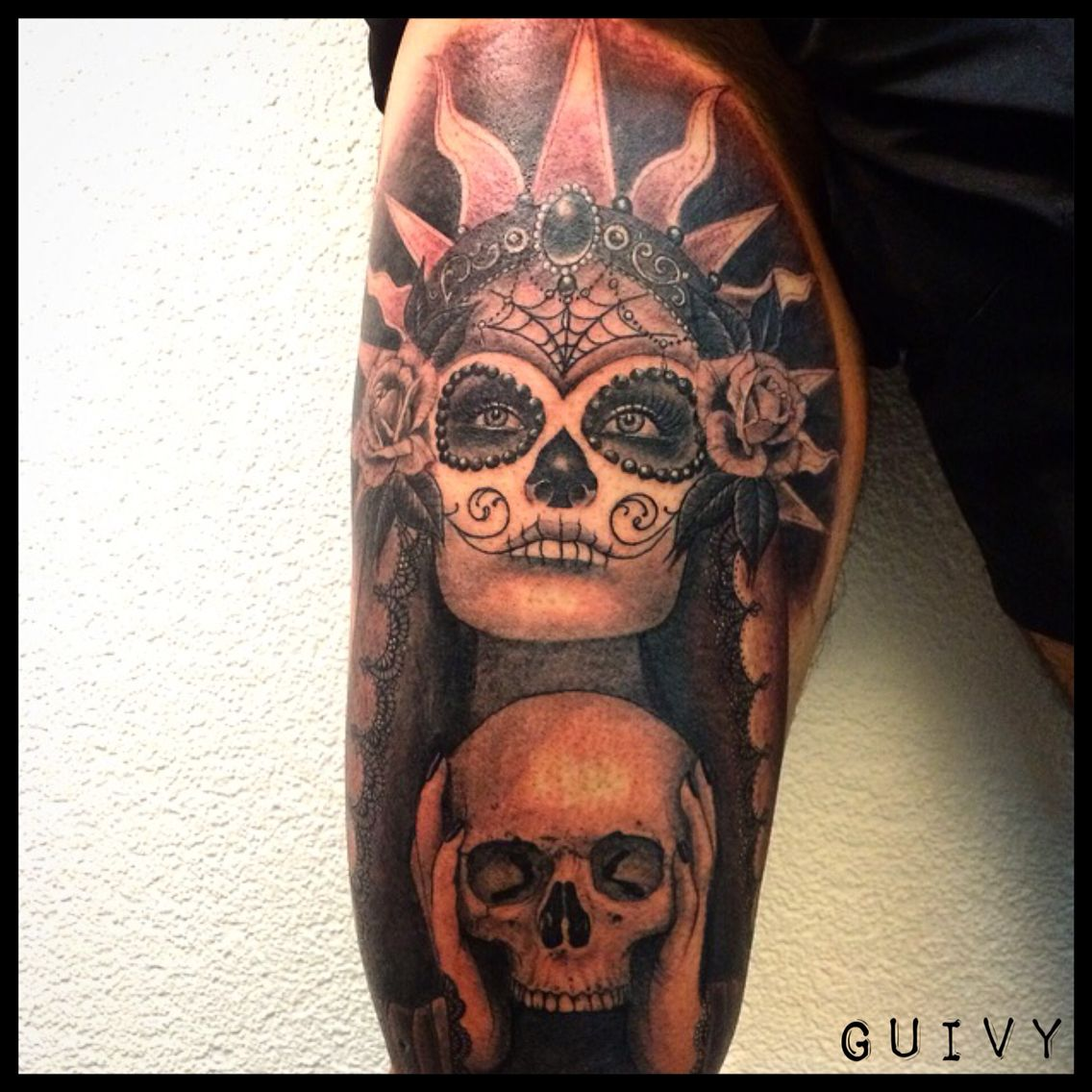 guadalupe catrina tattoo art for sinners geneva tatoo. Black Bedroom Furniture Sets. Home Design Ideas