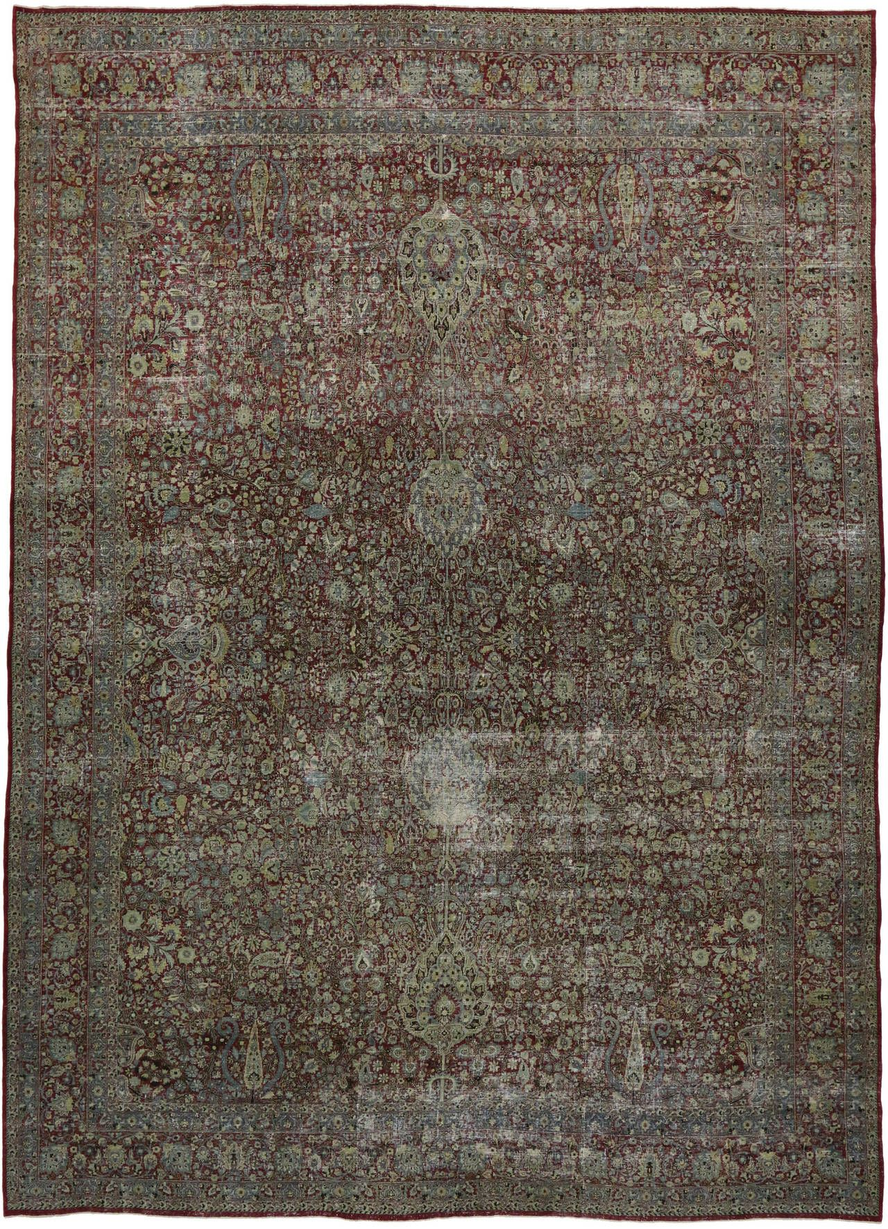 Distressed Antique Persian Kerman With Modern Rustic Industrial Style Modern Persian Rug Rugs On Carpet Distressed Rugs