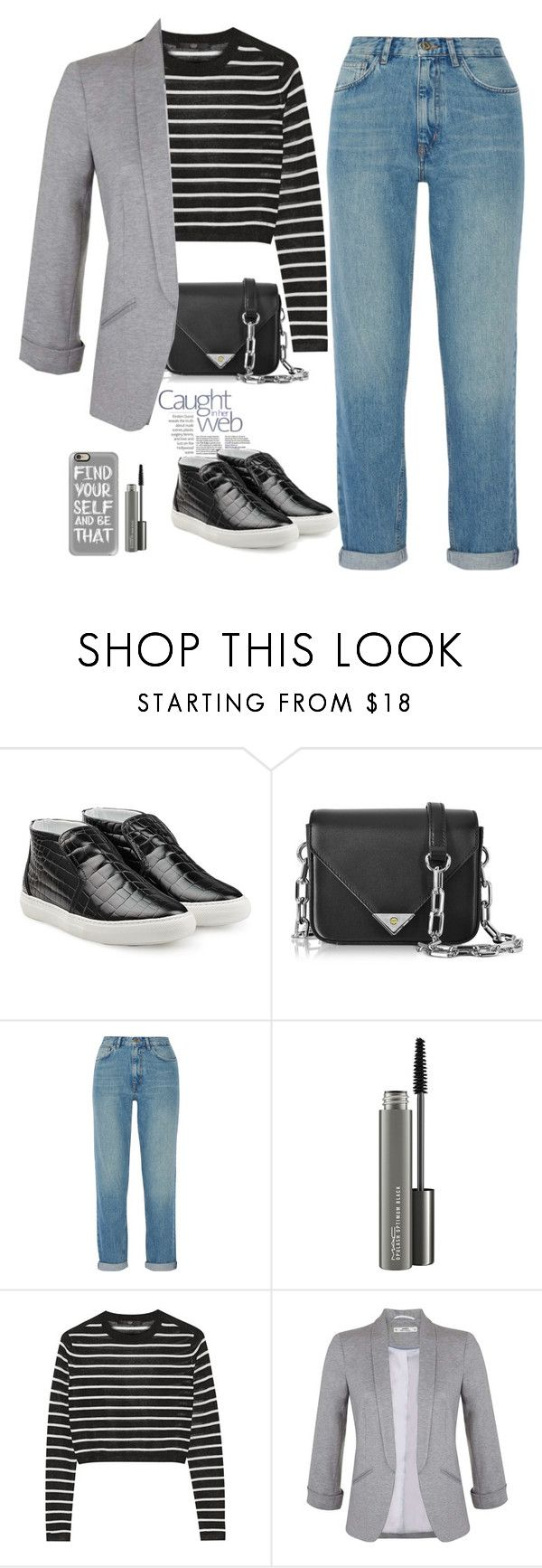 """""""Untitled #503"""" by jovana-p-com ❤ liked on Polyvore featuring Pierre Hardy, Alexander Wang, M.i.h Jeans, MAC Cosmetics, TIBI, Miss Selfridge and Casetify"""