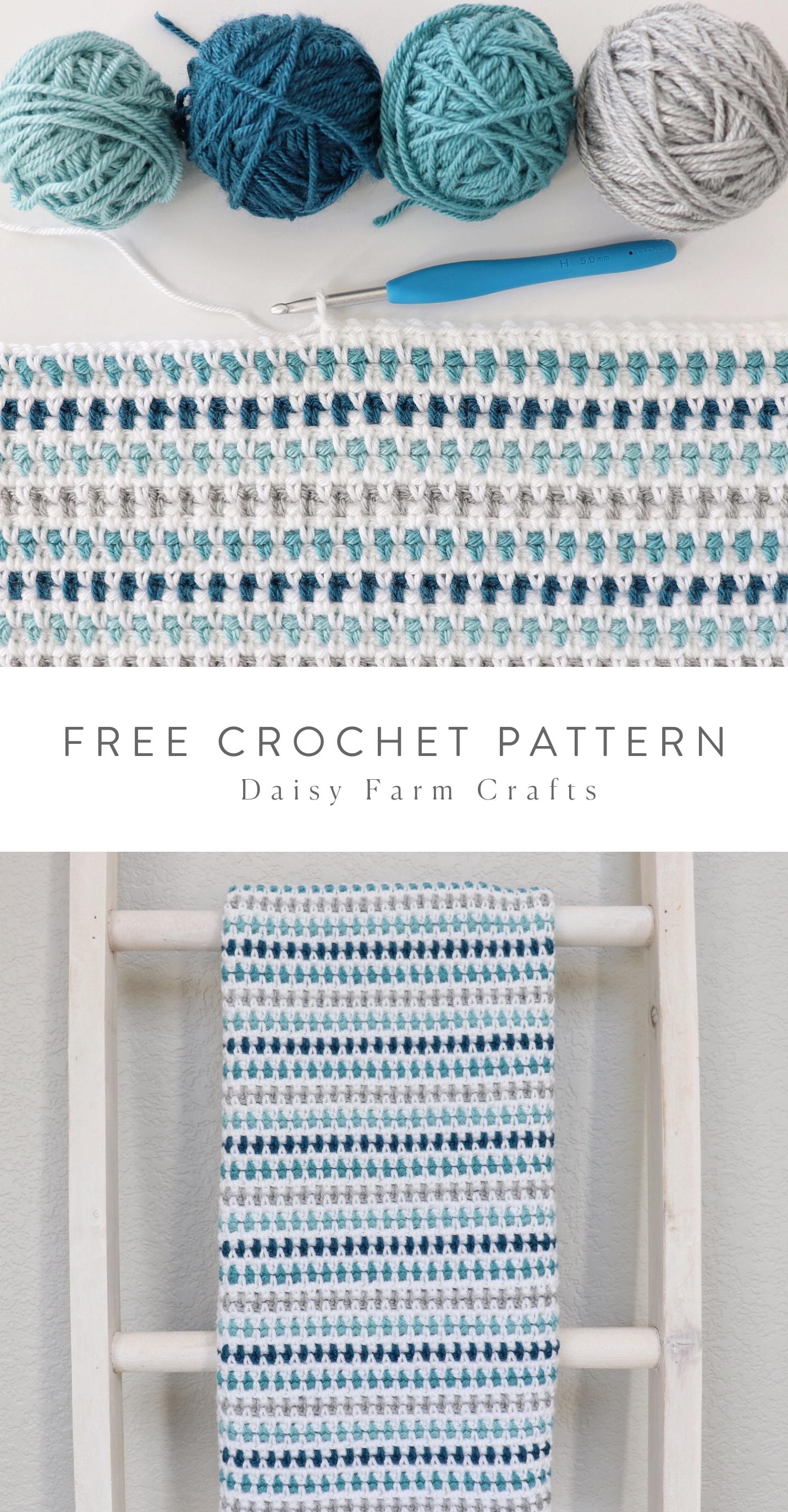 Free Pattern - Crochet Speckled Moss Stitch Blanket