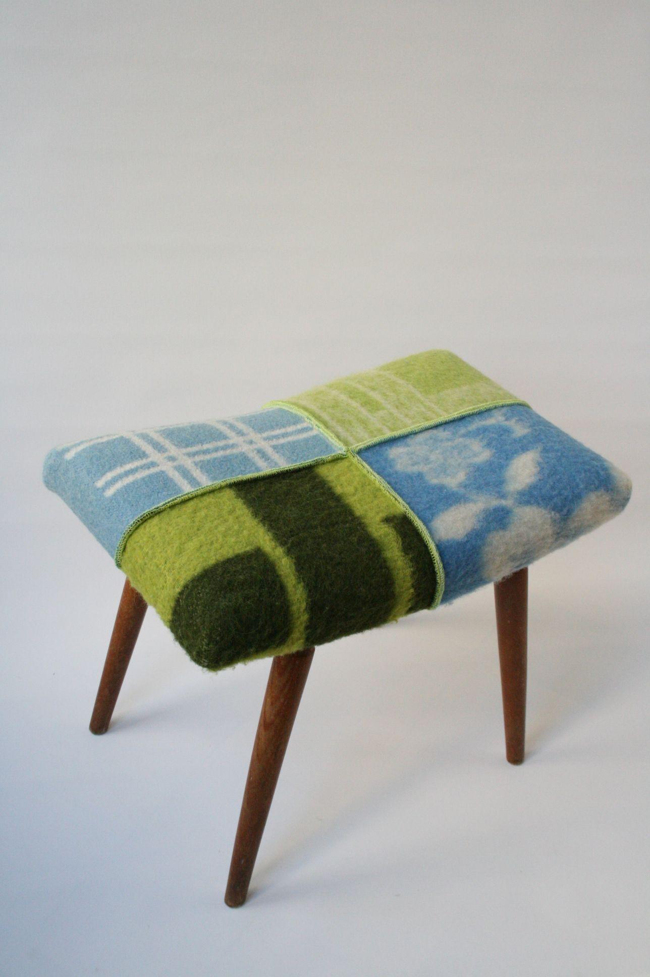 Meubels bekleedt van wollen dekens | Dekens, Deken, Oude