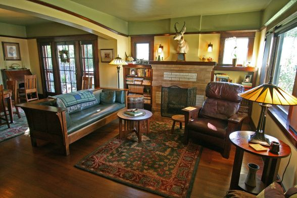 Craftsman Bungalow Living Room  Living Room And Dining Room Our Beauteous Bungalow Living Room Design Decorating Design