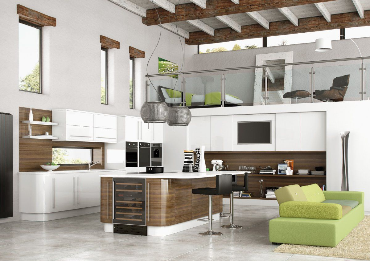 Open Kitchen Design with Modern Touch for Futuristic Home Interior ...