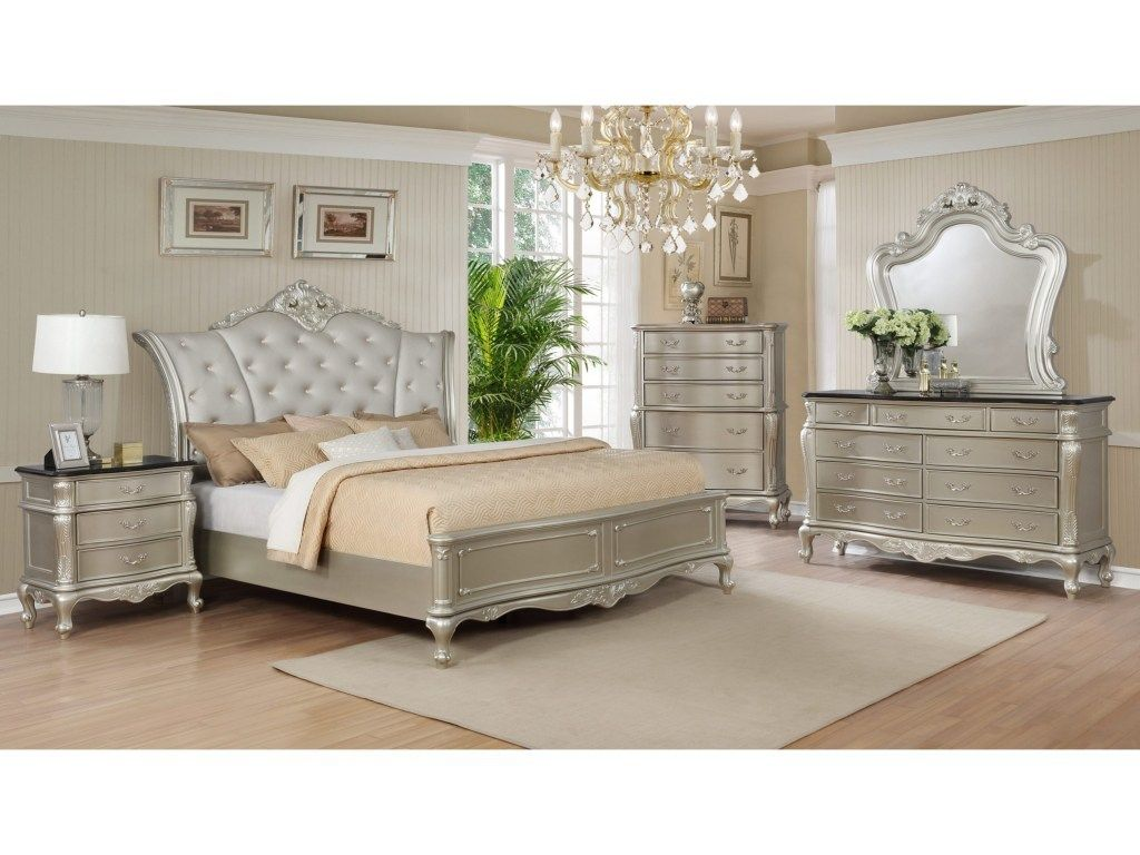 Crown Mark Angelina Collection Bedroom Set in 2019 | Royal ...