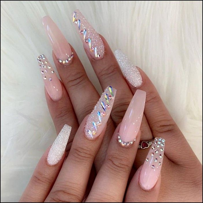 138 Creative And Newest Acrylic Nails Designs For This Year Page 22 Myblogika Com Diamond Nail Designs Nails Design With Rhinestones Diamond Nails