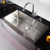 "Found it at AllModern - 35.9"" x 20.75"" Farmhouse Kitchen Sink"