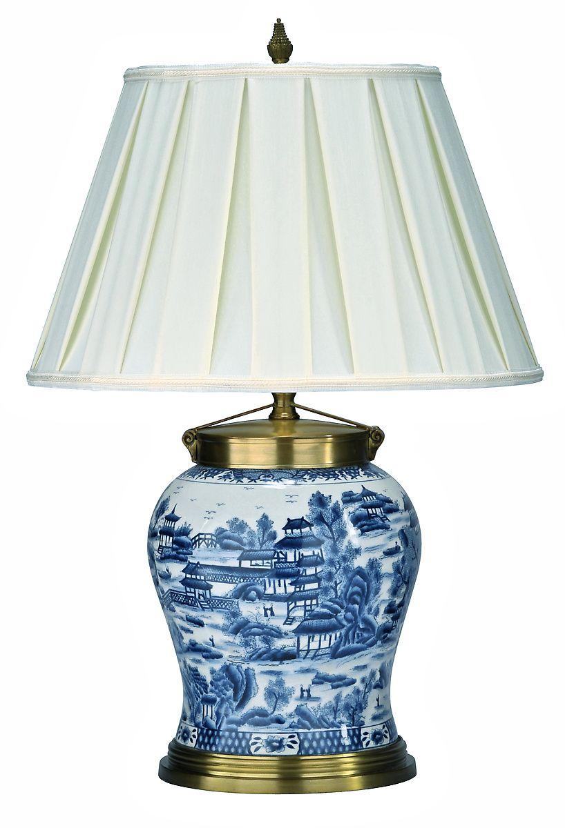 Pearl Delta Table Lamp Motif Blue And White Lamp Lamp Porcelain Lamp
