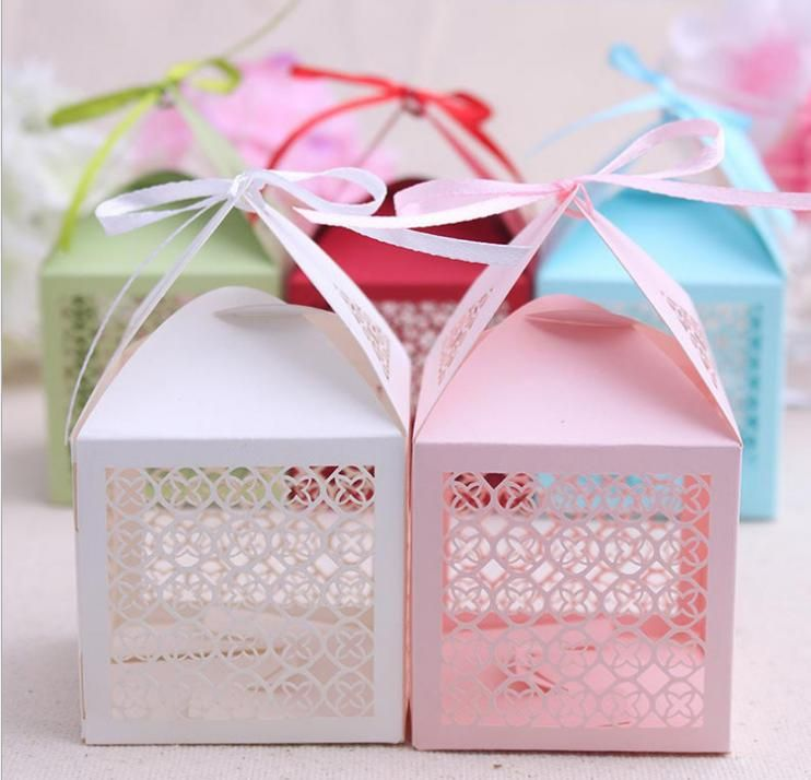 Cheap 100 unids decoracion para bodas caja de dulces con - Decoracion de cajas ...