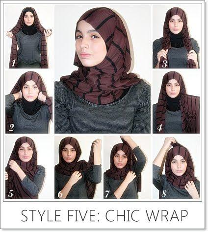chic wrap hijab, tutorial