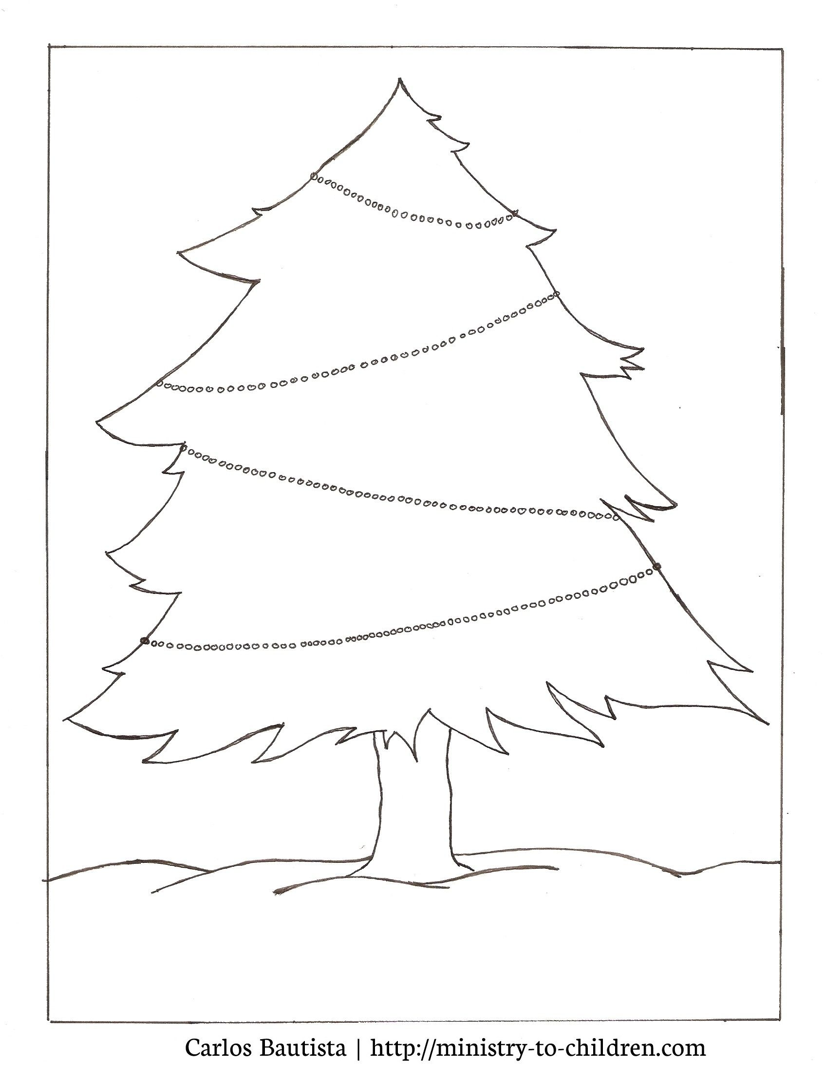 Christmas Coloring Pages for Preschool Christmas