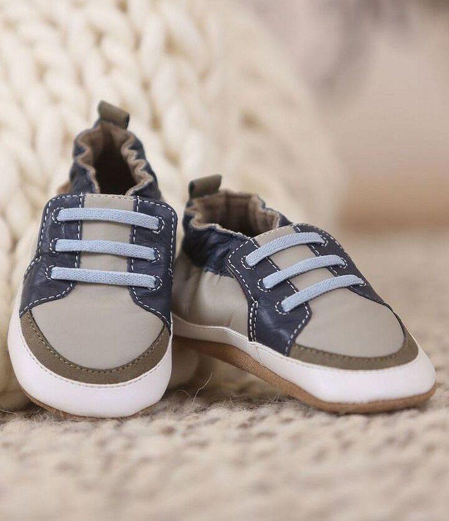 993a02d2 Robeez Baby Boys Newborn-24 Months Slip-On Tennis Crib Shoes ...