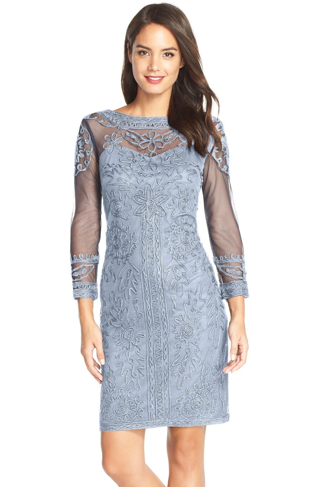 Js Collections Soutache Mesh Sheath Dress Available At Nordstrom