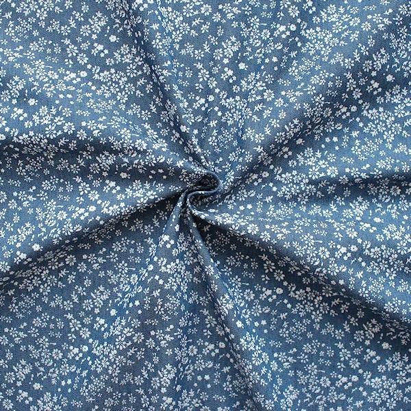 Stretch Denim Jeans Stoff  - dunkelblaue kche