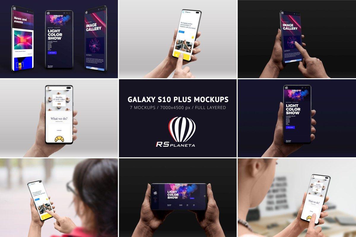 Galaxy S10 Plus Mockups Mockup Galaxy Phone Mockup