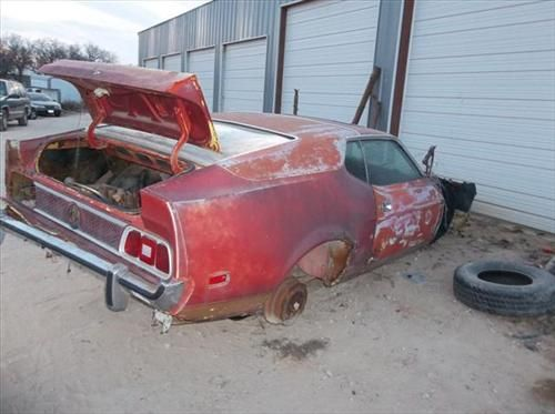 Parting Out this very rusted rough condition 1973 Fast Back Ford Mustang. BUT there are a few good parts left
