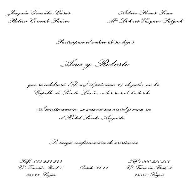 El Taller De Sabela Tipos De Texto Para La Invitación De