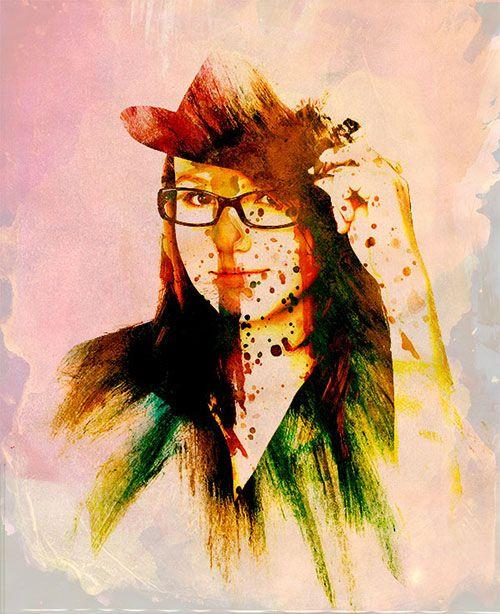Cara Membuat Efek Watercolor Dengan Photoshop Lukisan Cat Air