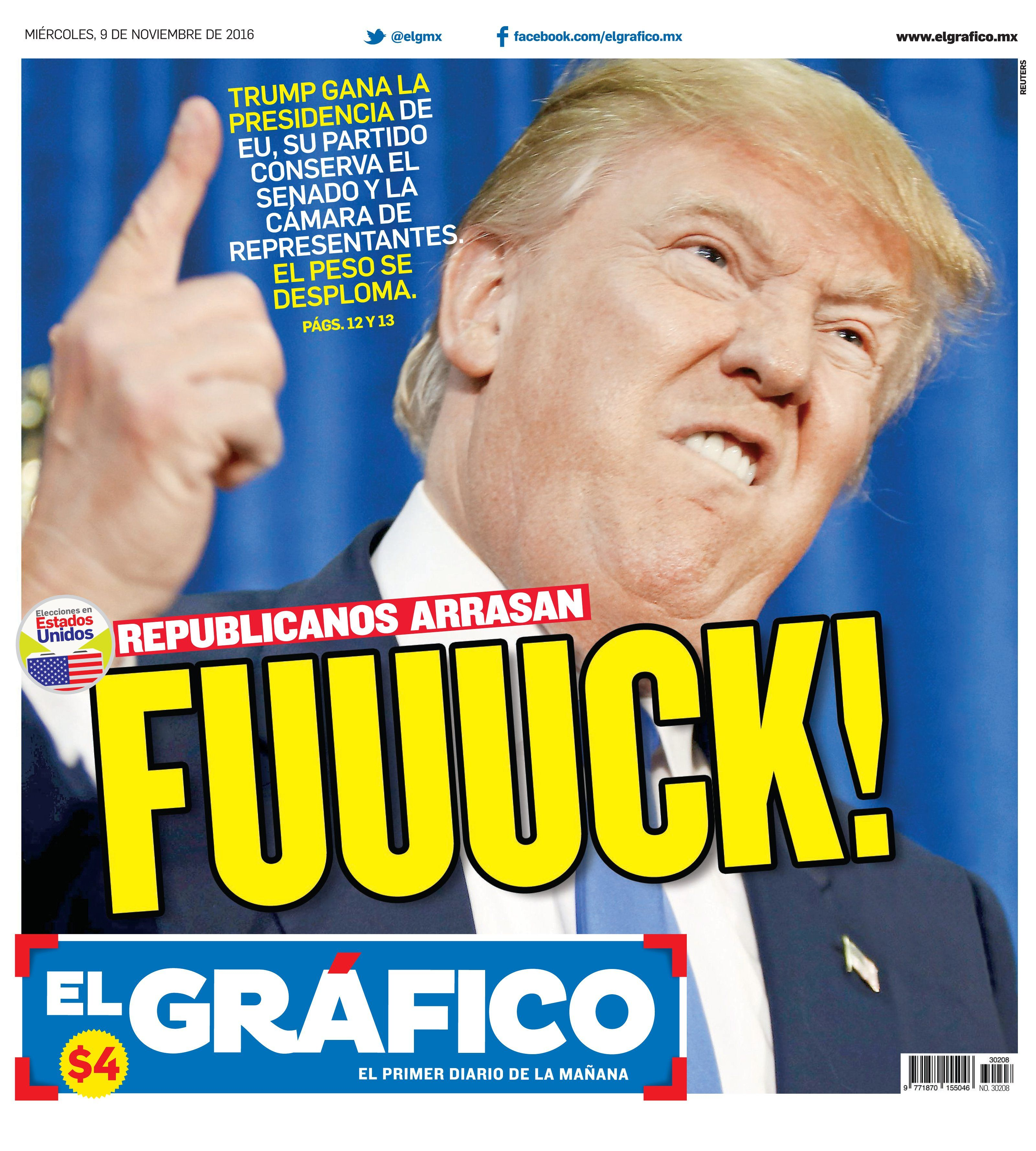 Newspaper front pages cover Trump's victory – in pictures