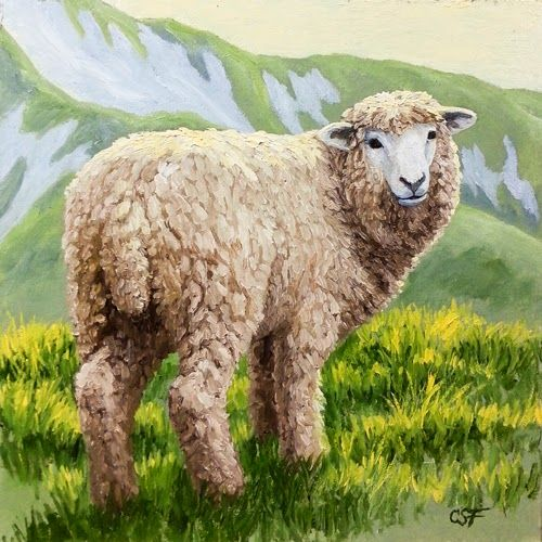 SHEEP IN PAINTINGS AND ART | Forest Wildlife Art: Miniature Painting ...