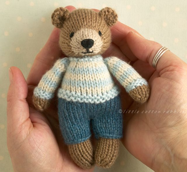 mini bunnies and bears, two new patterns | Teddy bear ...