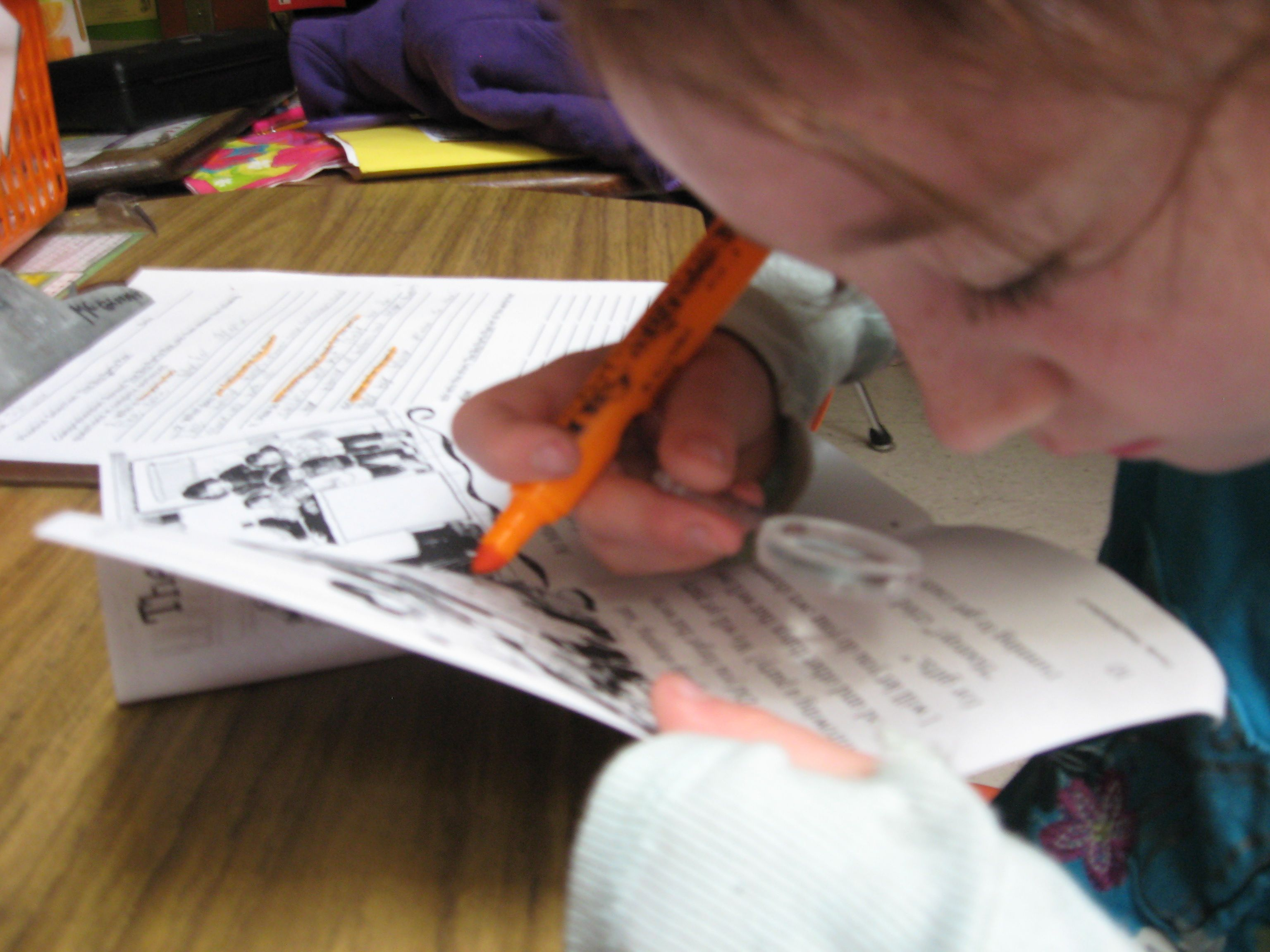 This Is One Of My Students Using A Magnifying Glass During