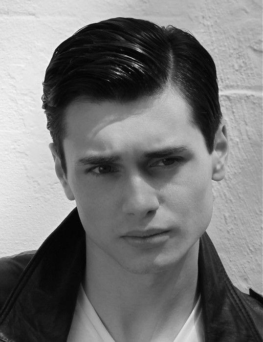 Guy Kremer Short Black Straight Hair Styles 24346 1950s Mens Hairstyles Greaser Hair 1950s Hairstyles