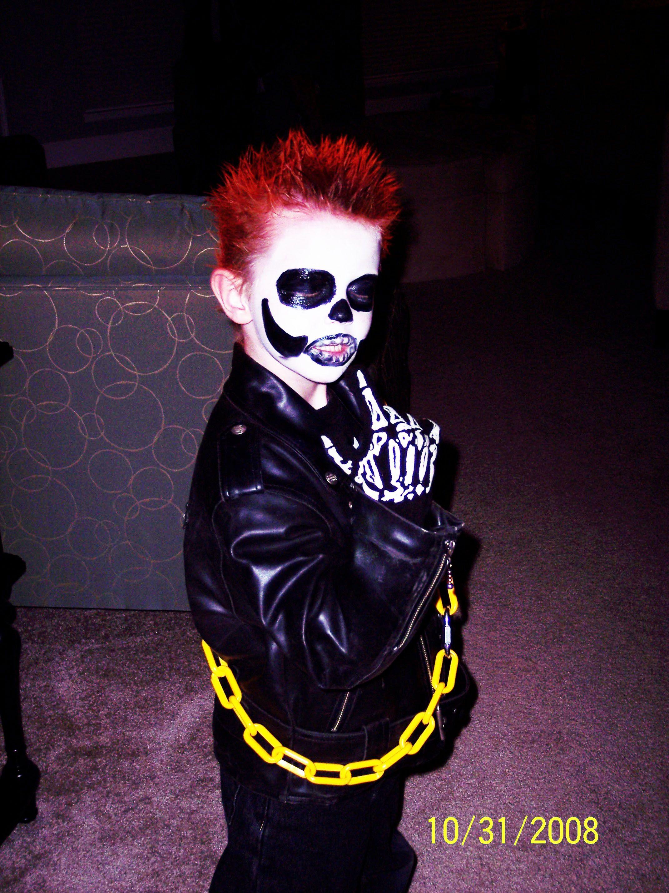 Ghost Rider DIY Costume - He loved it! | Halloween | Pinterest ...