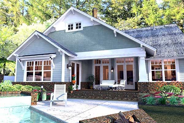 Plan 16887wg 3 Bedroom House Plan With Swing Porch Craftsman Style House Plans Craftsman House Craftsman House Plan