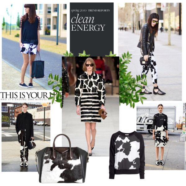 """""""Trend: Cow Print!"""" by gabriela2105 on Polyvore"""