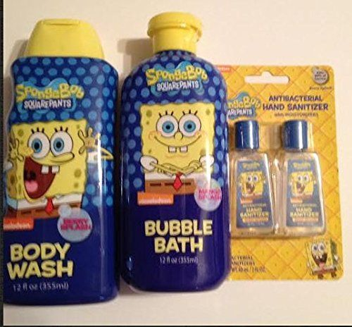 Spongebob Square Pants Bath Set Mango Splash Bubble Bath Berry