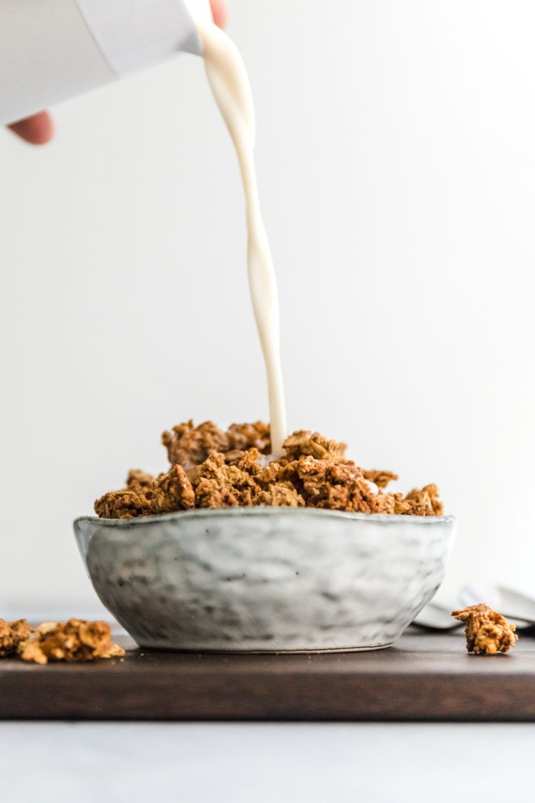 Öl- & Zuckerfreies Zimt Knuspermüsli | Veggie Jam #cinnamonsugarcookies