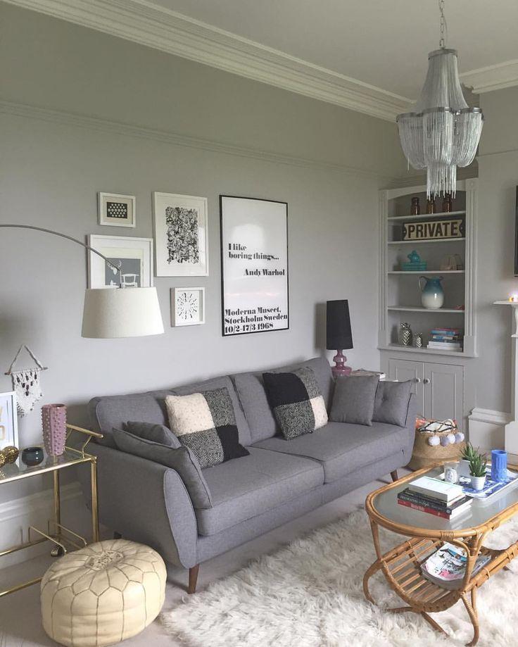 Graue Wände Wohnzimmer: Pavilion Grey Von F & B #farrowandball #paviliongrey
