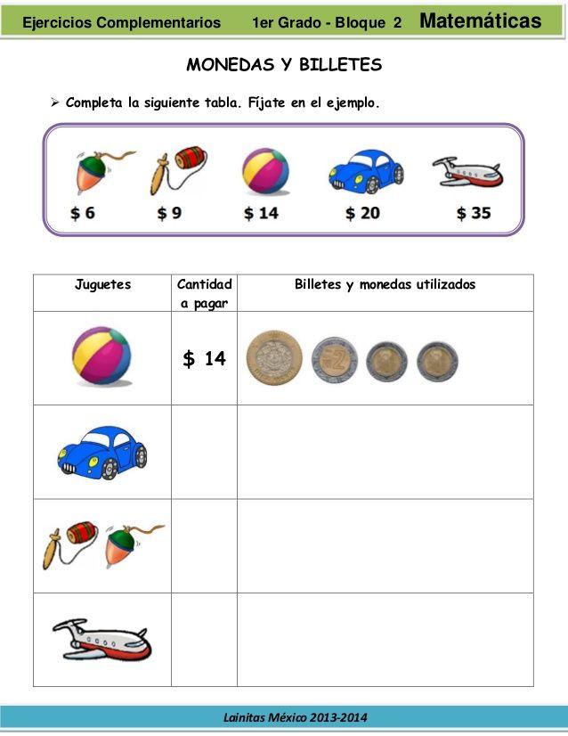 Resultado De Imagen Para Problemas Con Monedas Y Billetes Para Segundo Grado De Pr Actividades De Matematicas Matemáticas De Primer Grado Problemas Matemáticos