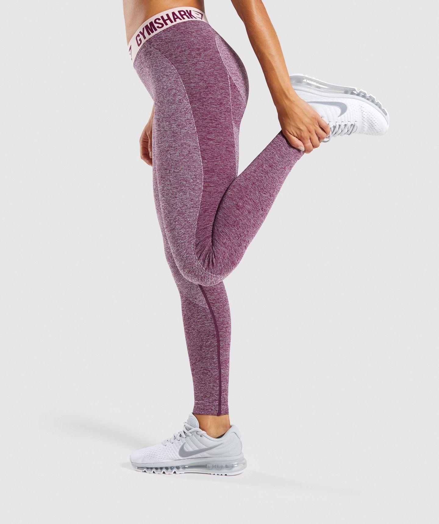 0b0552bf1cc4e Gymshark Flex Leggings - Dark Ruby Marl/Blush Nude in 2019 ...