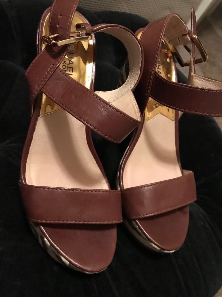 128d0b90c372 Michael Kors Ivana Platform Sandal Heel Women Size 7.5M Mocha Brown Zebra  Print  fashion  clothing  shoes  accessories  womensshoes  sandals (ebay  link)