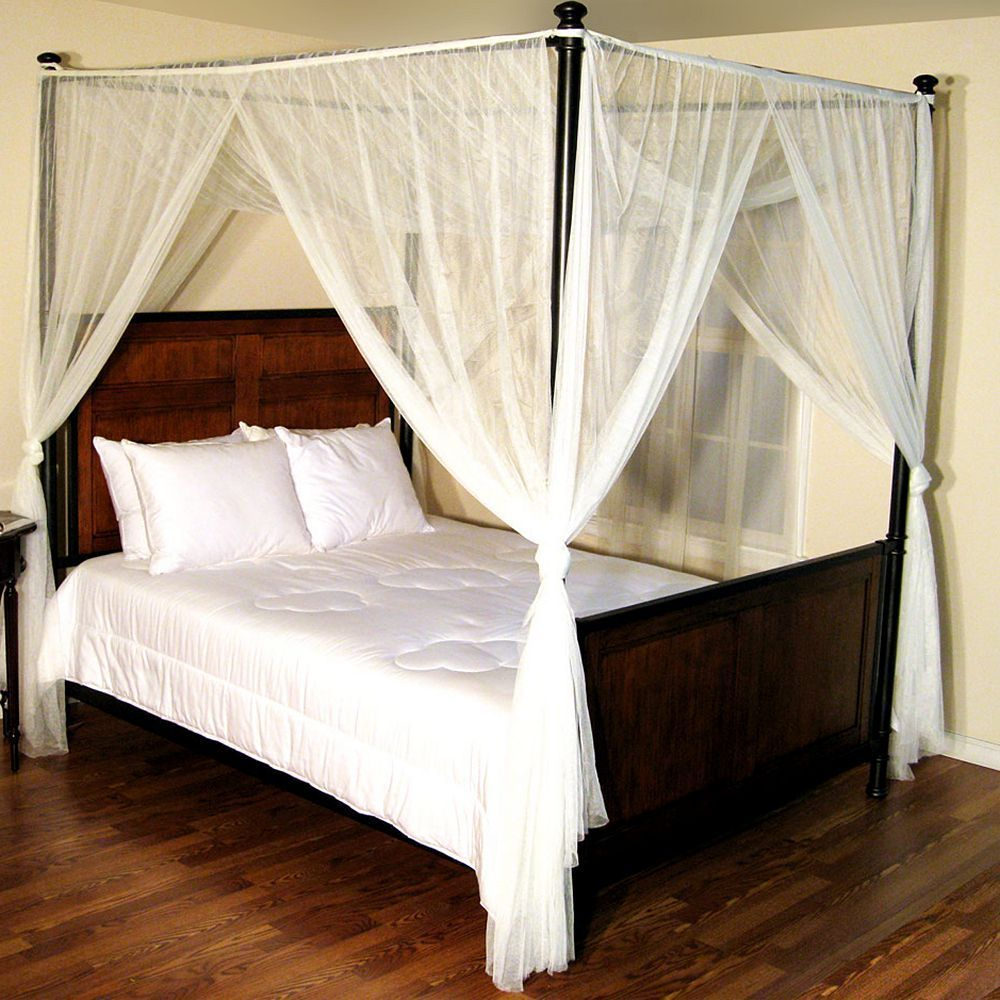 Casablanca Palace Four Poster Bed Canopy White