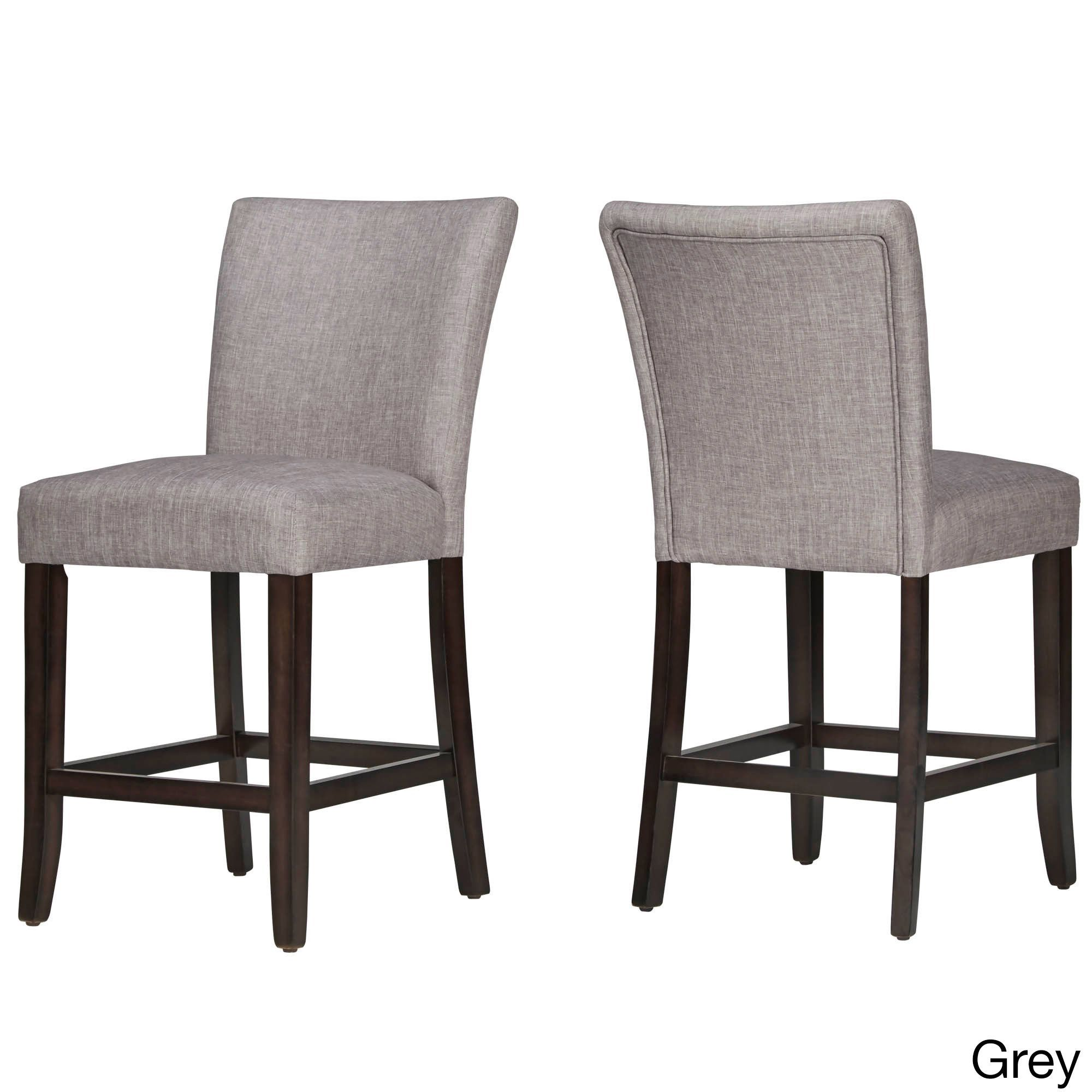 TRIBECCA HOME Parson Classic Linen Counter Height Chairs (Set Of 2) |  Overstock.com Shopping   The Best Deals On Bar Stools