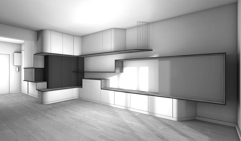 La maison france 5 cr er un bureau console tv entre une entr e et un s jour d co salons - Creer un bureau ...