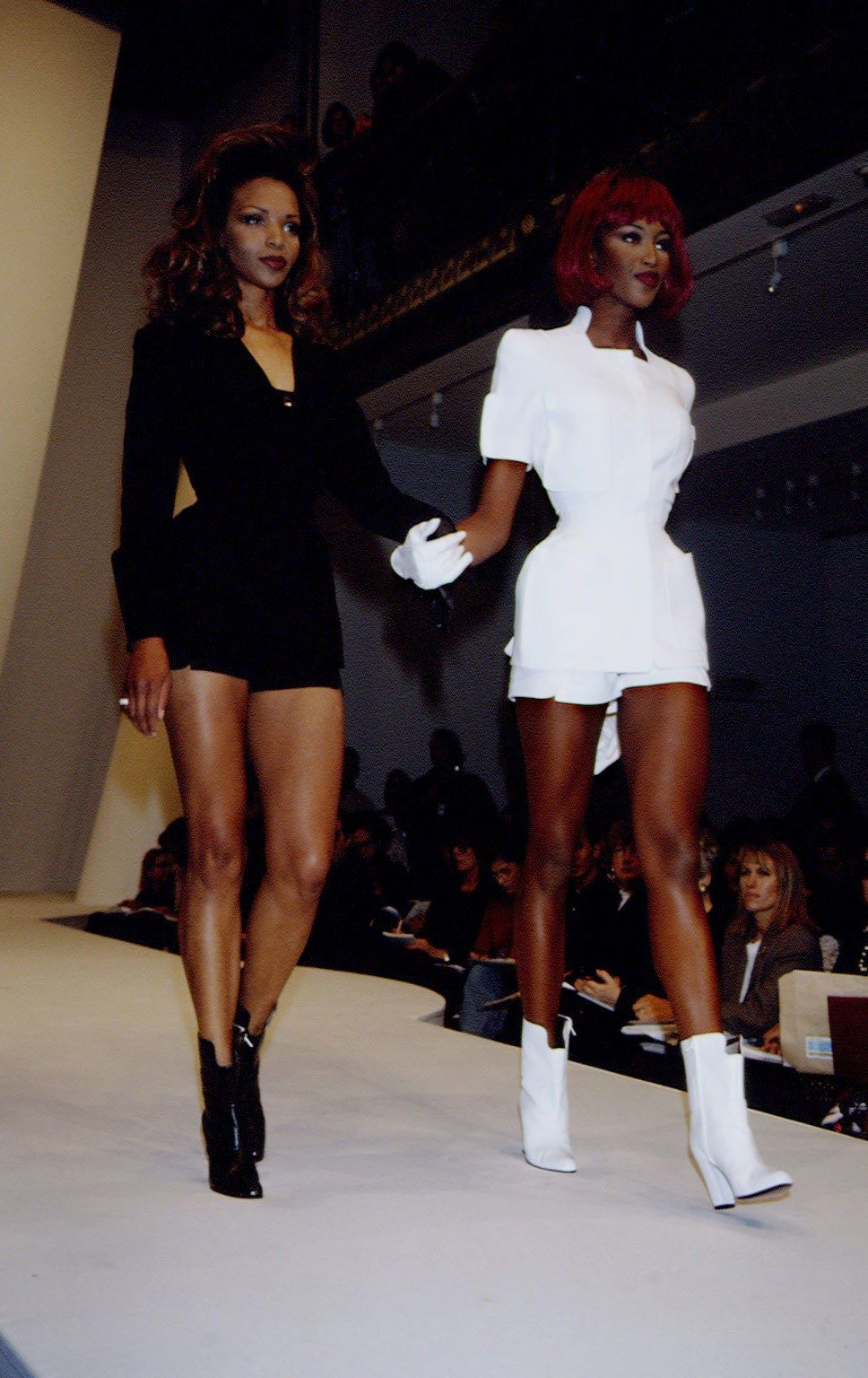 e78b4c5492ae1 Naomi Campbell and Valerie Morris-Campbell at Mugler Spring Summer 1994.  With her age-defying beauty