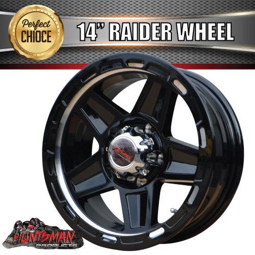 14x5 5 Raider Alloy Mag Wheel Suits Ford Caravan Trailer Boat