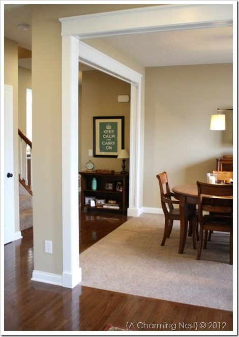like wall color, hardwood color, and carpet color together ...